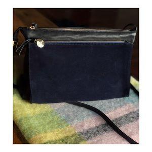 Clare Vivier Gosee Leather Suede Crossbody Bag